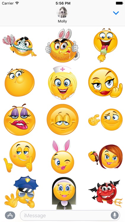 Adult Emoji - Dirty Emoticon Stickers for iMessage