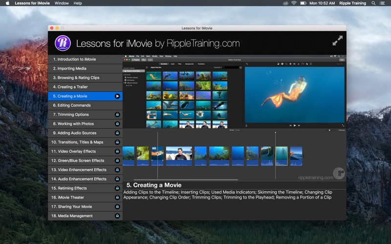 Lessons for iMovie Screenshot