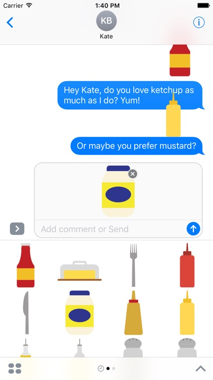 Condiments Sticker Pack for iMessage screenshot-4