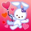 ルクちゃんのハートバルーン -無料で遊べるウサギのパズル-