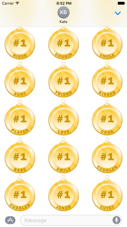 Medals for iMessage