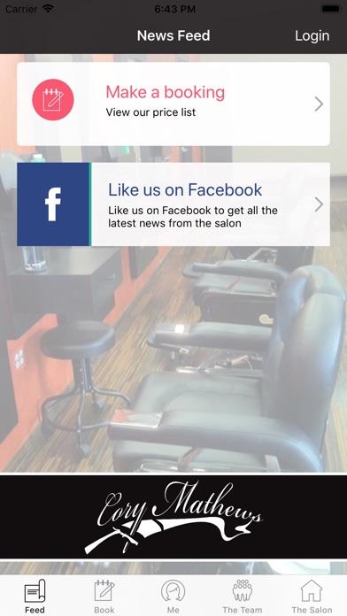 Cory Mathews Salon Screenshot