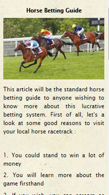 Horse Betting Guide