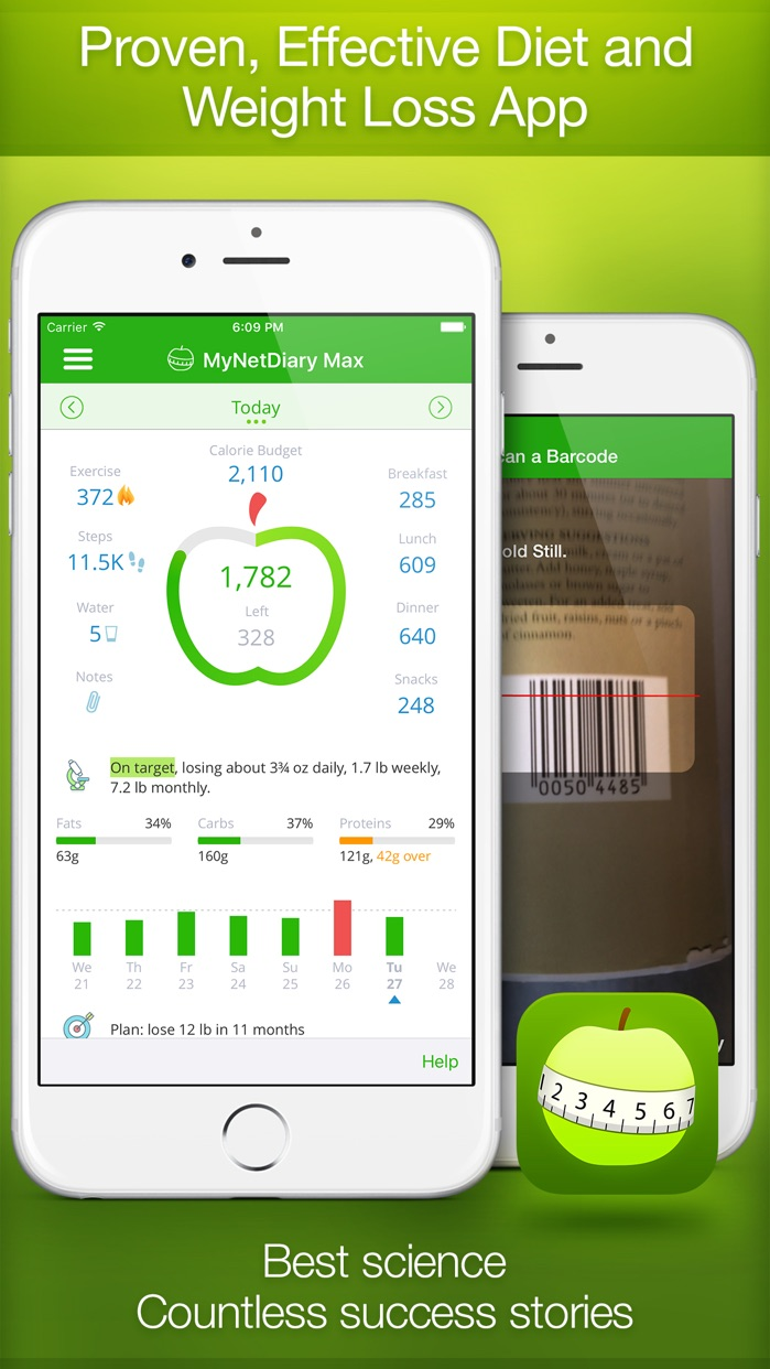 Calorie Counter and Food Diary by MyNetDiary Screenshot