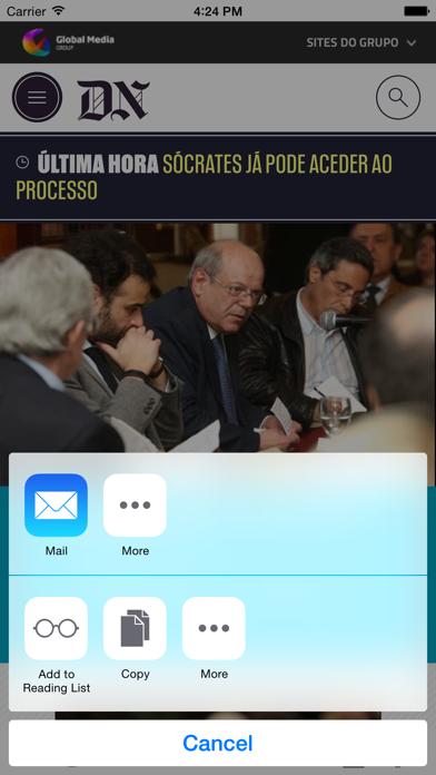 Diário de Notícias screenshot two