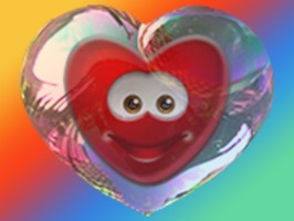 Bubble hearts smiley stickers pack for iMessage