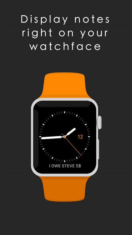WatchNotes - Display notes on watch face screenshot-0
