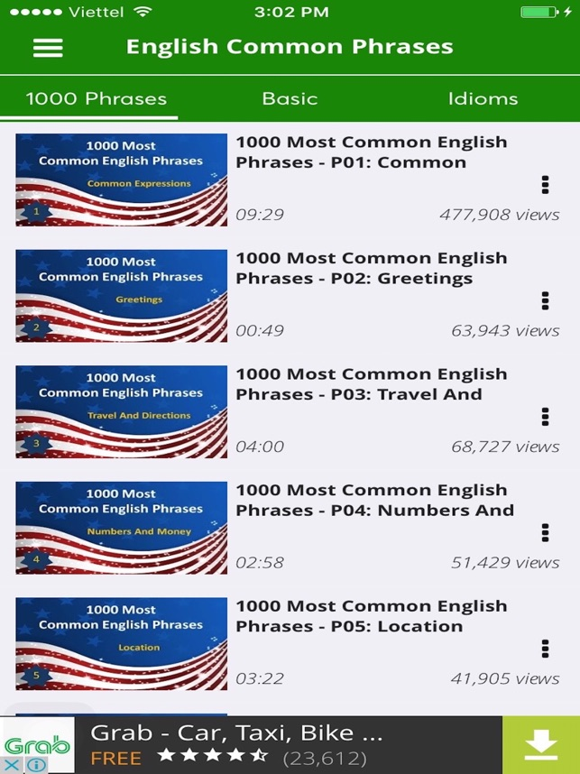 english phrases most common expressions idoms をapp storeで