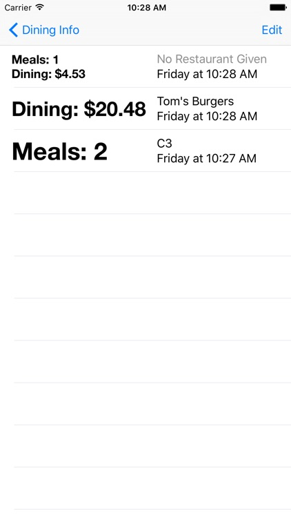 College Meal Planner