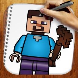 Easy Draw For Mineckraft Lego