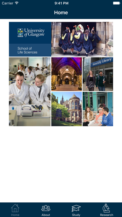 Uni of Glasgow Life Sciences screenshot one