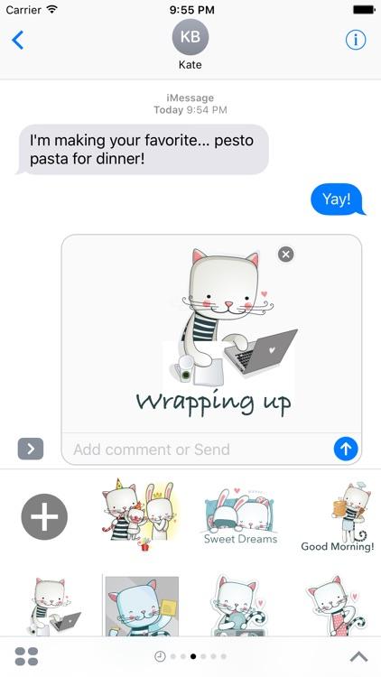 Bunny & Cat - MYOSE - Make Your Own Sticker Emoji screenshot-3