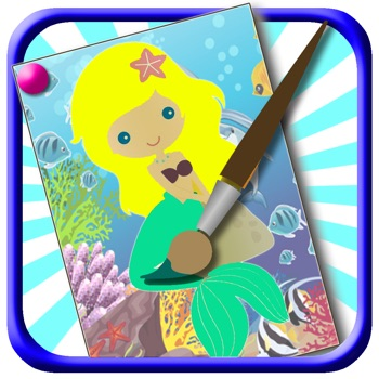 Mermaid Game Kids Coloring Books