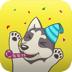 3.Husky Emoji Animated Sticker
