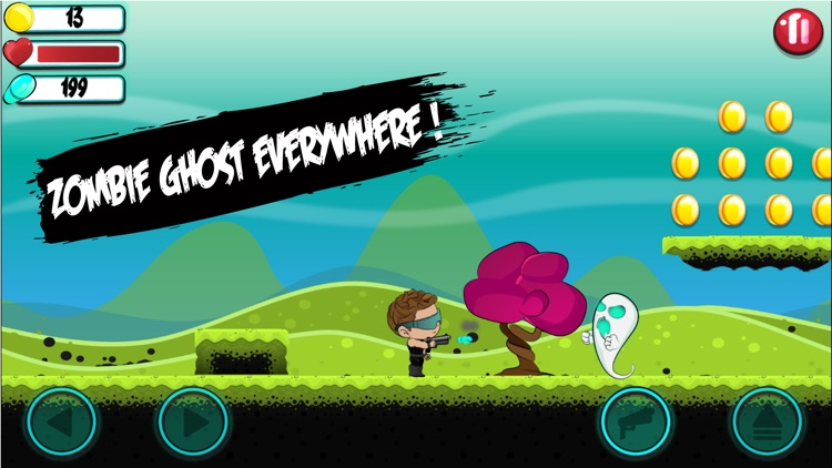 Billy vs Ghosts - Modern Ghost Zombie Shooting Games for adults and kids