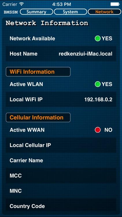Battery Memory System Status Monitor screenshot-3