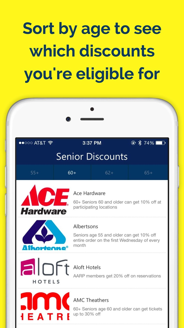 Senior Discounts Free — Money Saving Guide Screenshot