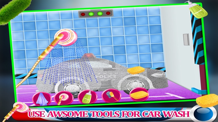 Police Car Wash Gas Station - Little Kids Fun Game