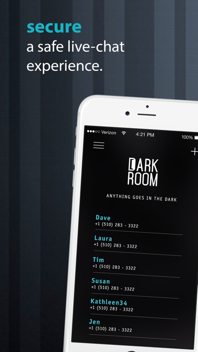 download DarkRoom Chat - Your discreet & confidential live messenger apps 0