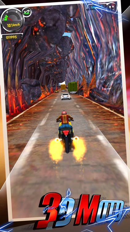 AE 3D Motor: Moto Bike Racing,Road Rage to Car Run screenshot-3
