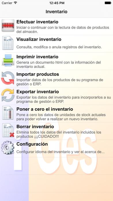 Inventario screenshot one