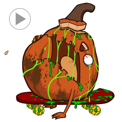 Zombie Fruit - Animated Stickers