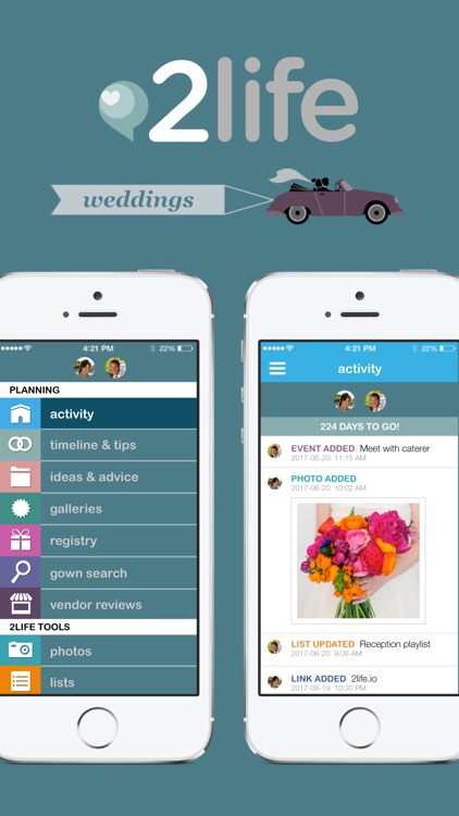 2life Wedding Planner for Engaged Couples