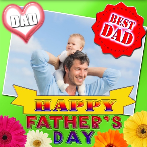 Father's Day Frame and Sticker icon