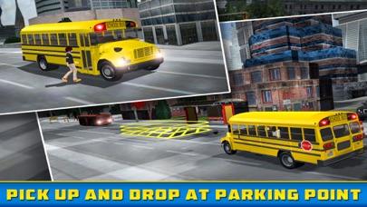 School Bus Driver - Pick & Drop 3D Simulator Game screenshot one