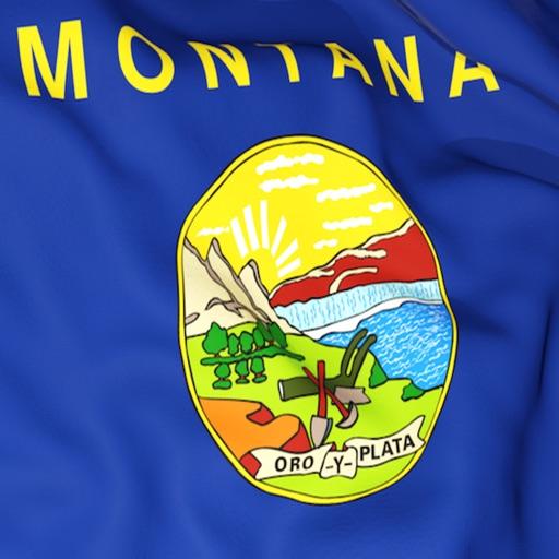 Montana Flag Stickers
