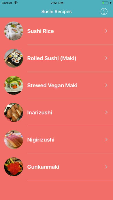 Sushi Recipes Japanese Cuisine screenshot two