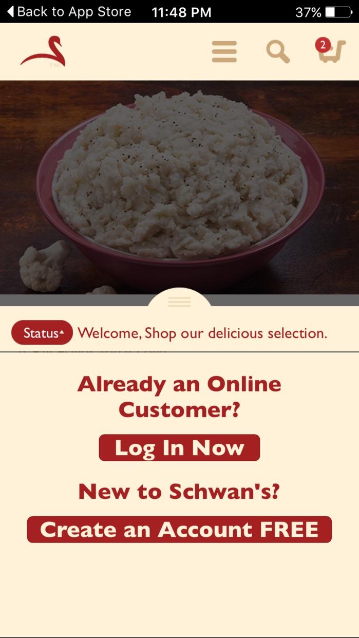 Schwan's Food Delivery Screenshot
