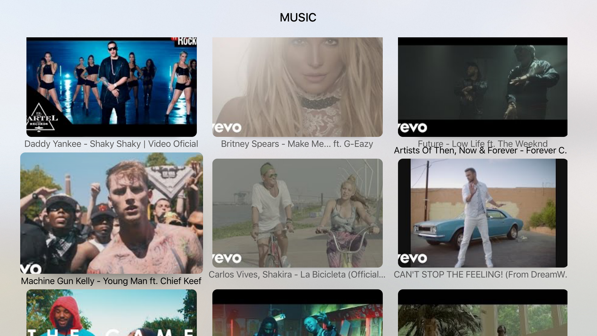 Music Tube for TV-Powered by Youtube screenshot 3