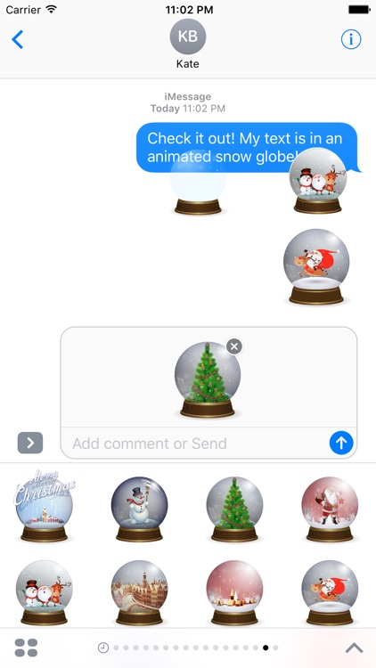 Snow Globe Stickers