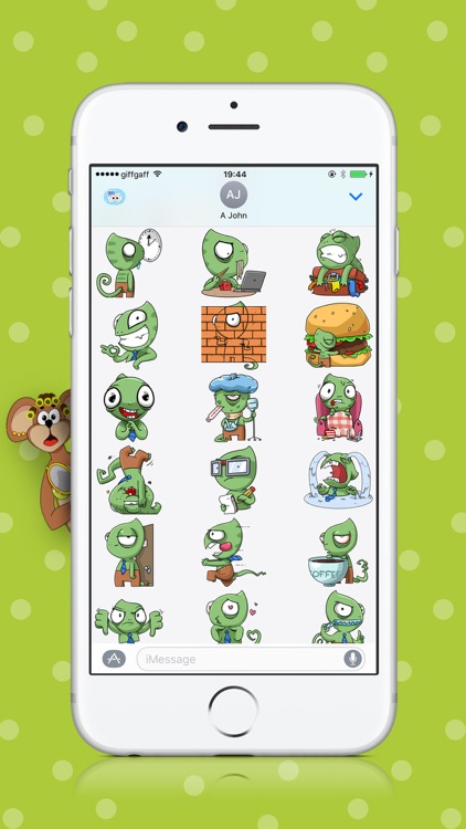 Sneaky Lizard Stickers