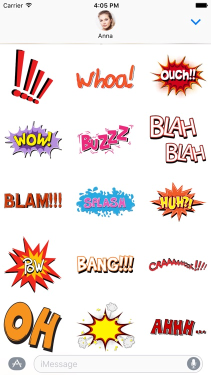 Comic book Greetings: Color chat bubble stickers screenshot-4