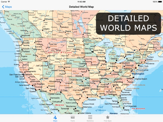 Atlas for ipad world maps facts statistics on the app store ipad screenshots gumiabroncs Choice Image