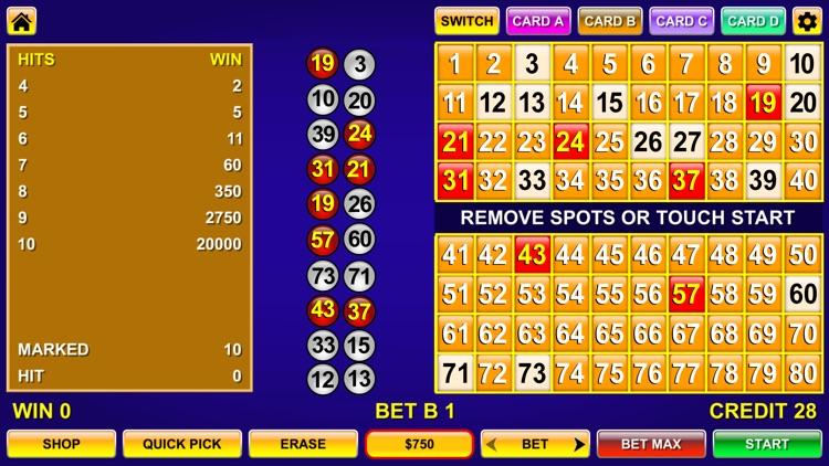 Keno - Multi Card keno games screenshot-4