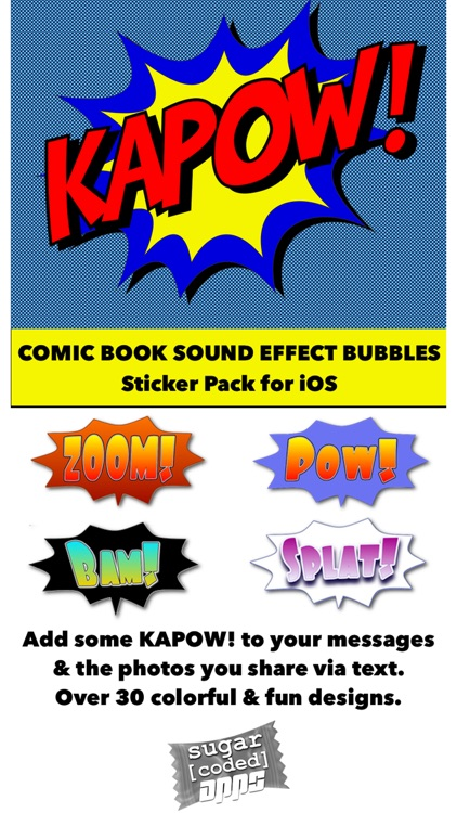 Ka-Pow! Comic Sound Effect Bubbles screenshot-0