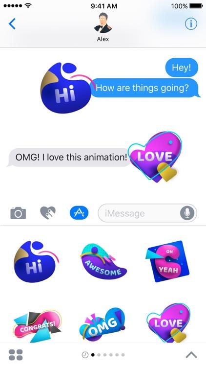 OMG Animated Stickers screenshot-3