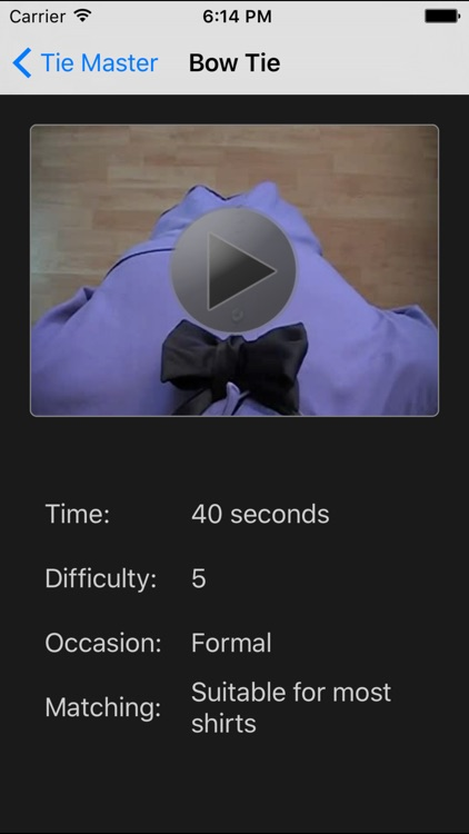 Tie Master - How to Tie a Tie: POV Video Tutorials screenshot-3