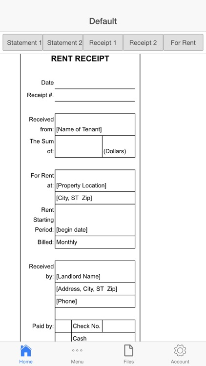 Rental Invoice screenshot-2