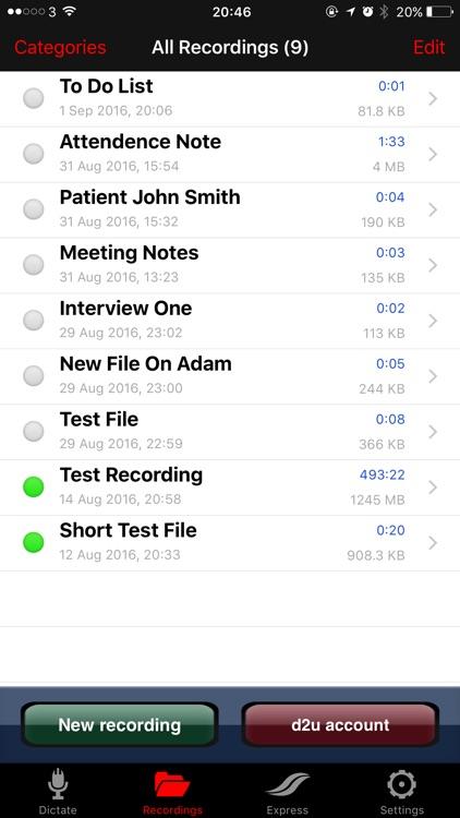 dictate2us: Voice Recorder - Transcription Service