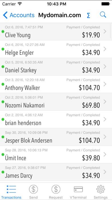 PayMobile - PayPal Manager Screenshot 2