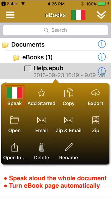 SpeakItalian 2 Pro (6 Italian Text-to-Speech) screenshot-3