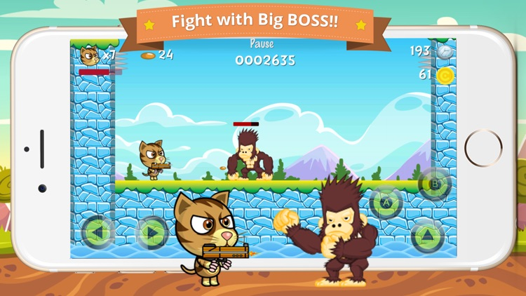 Cat Brothers Platform Bullet VS Gorilla Ape Kong screenshot-2