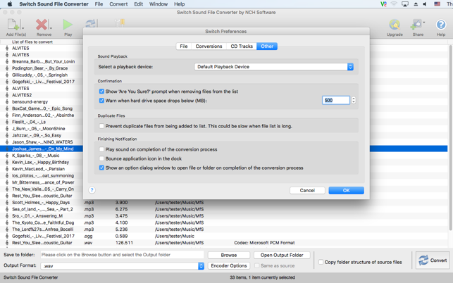Switch Audio File Converter on the Mac App Store