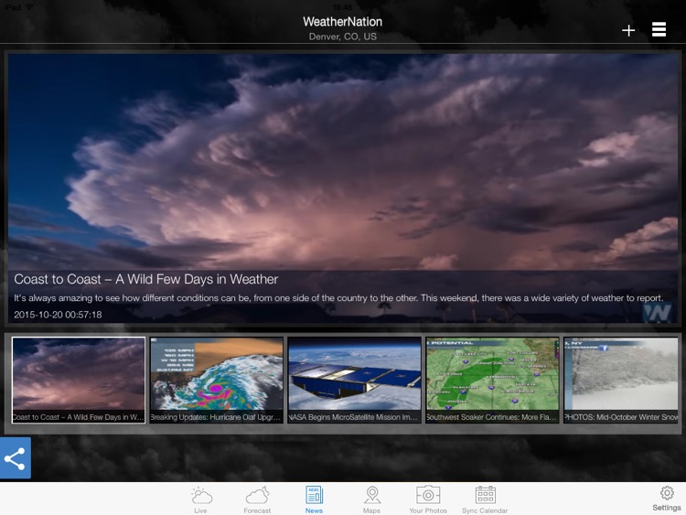 "WeatherNation Free ""for iPad"" screenshot-4"