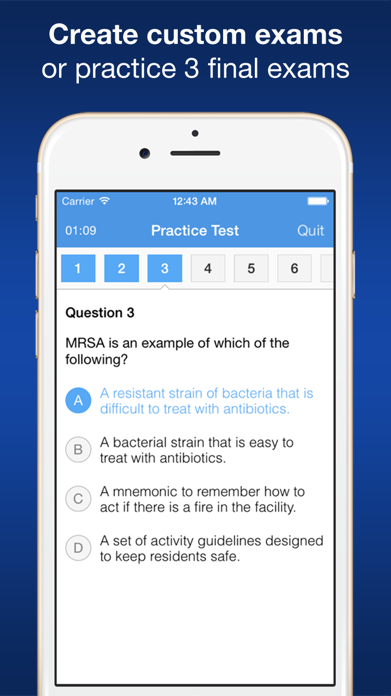 CNA Smart Exam Prep - Practice Test & Study Screenshot
