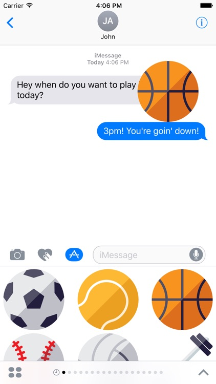 iMessage Sports Stickers